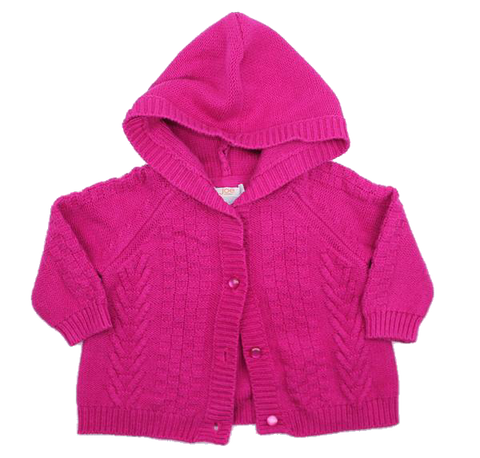 Baby Girls Hooded Sweater by Joe Fresh in Size 3-6 Months - May Bug Treasures