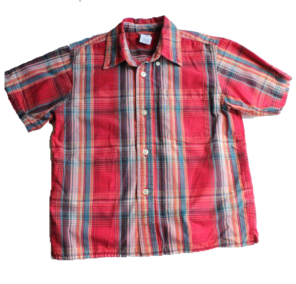 Gap Boys Red Plaid Short Sleeve Shirt, Size 4 - May Bug Treasures