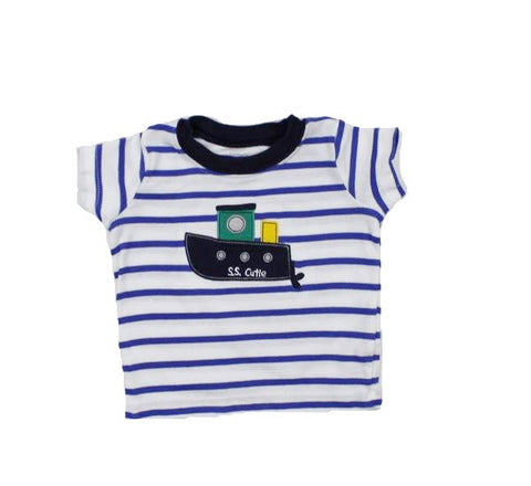 Carter's Baby Short Sleeve Striped T-Shirt, Size 6 months - May Bug Treasures