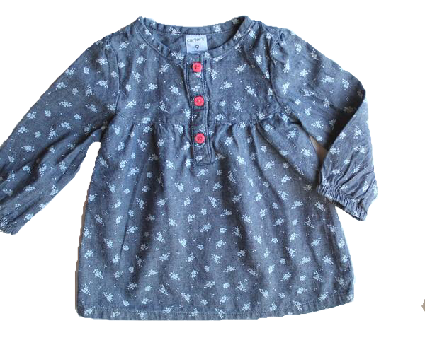 Carter's Light Denim Tunic Top, Size  9 Months - May Bug Treasures