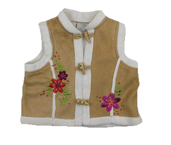 Please Mum Girls Suede Look Vest Size 2T