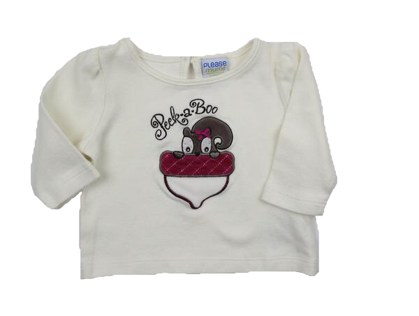 Please Mum Baby Girl Top, Size 3 Months