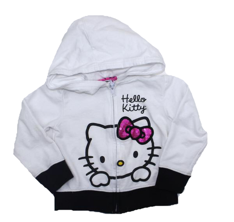 Hello Kitty White Hoodie in Size 3T - May Bug Treasures