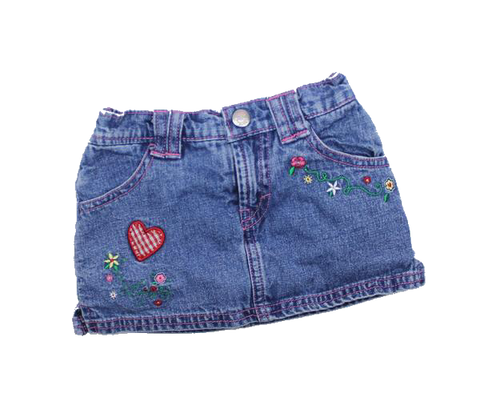 Levis Toddler Girls Denim Skirt, Size 12 Months - May Bug Treasures