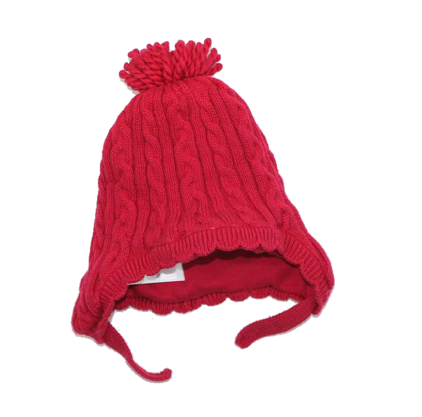 Gymboree Red Cable Knit Hat, Size 6-12 Months - May Bug Treasures