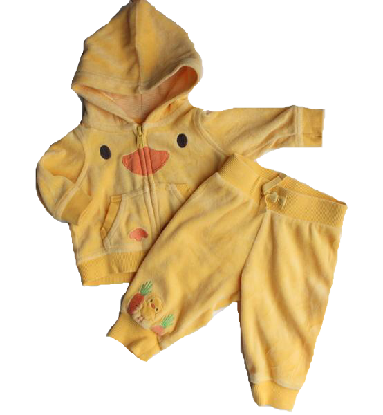 Gymboree Infant 2-Piece Chick Hoodie and Pants , Size 0-3 Months - May Bug Treasures