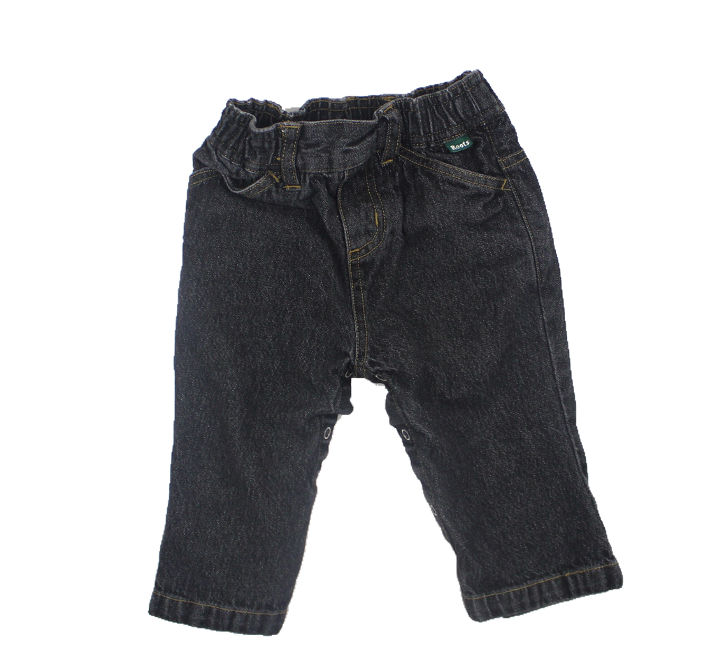 Roots Black Infant Jeans, Size  6-12 Months - May Bug Treasures
