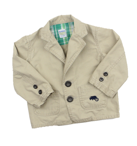 Please Mum Infant Beige Chino Jacket, Size 6-12 Months - May Bug Treasures