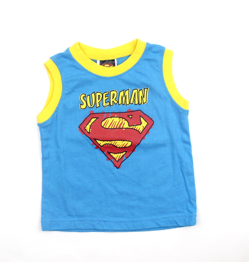 Infant Superman Blue Tank Top in Size 3-6 Months - May Bug Treasures