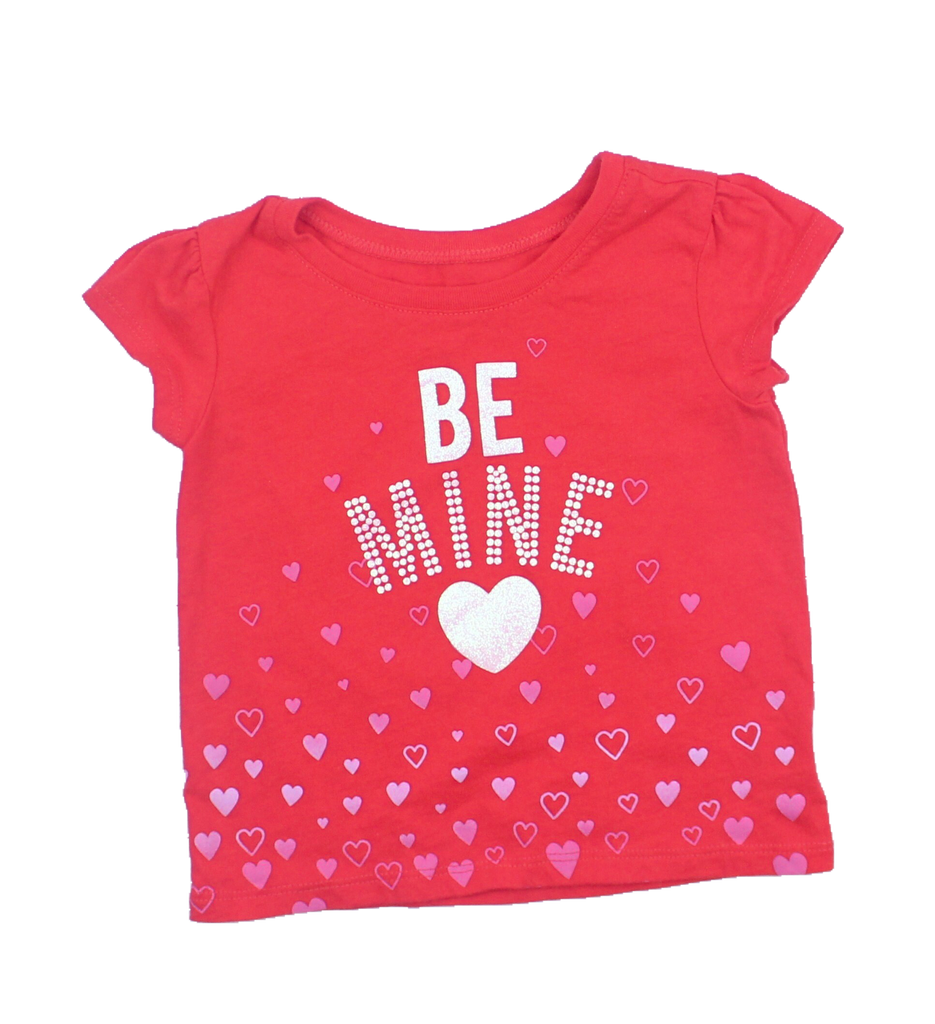 Toddler Be Mine Heart T-Shirt in Size 18-24 Months Available Online at Gently Used Kids Clothes Resale May Bug Treasures