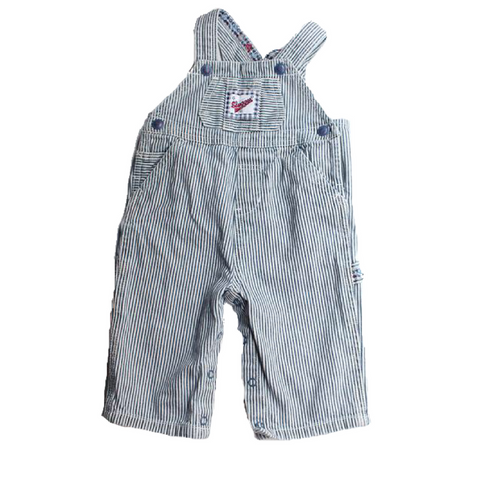 Children's Place Striped Denim Overalls - 3-6 Months - May Bug Treasures