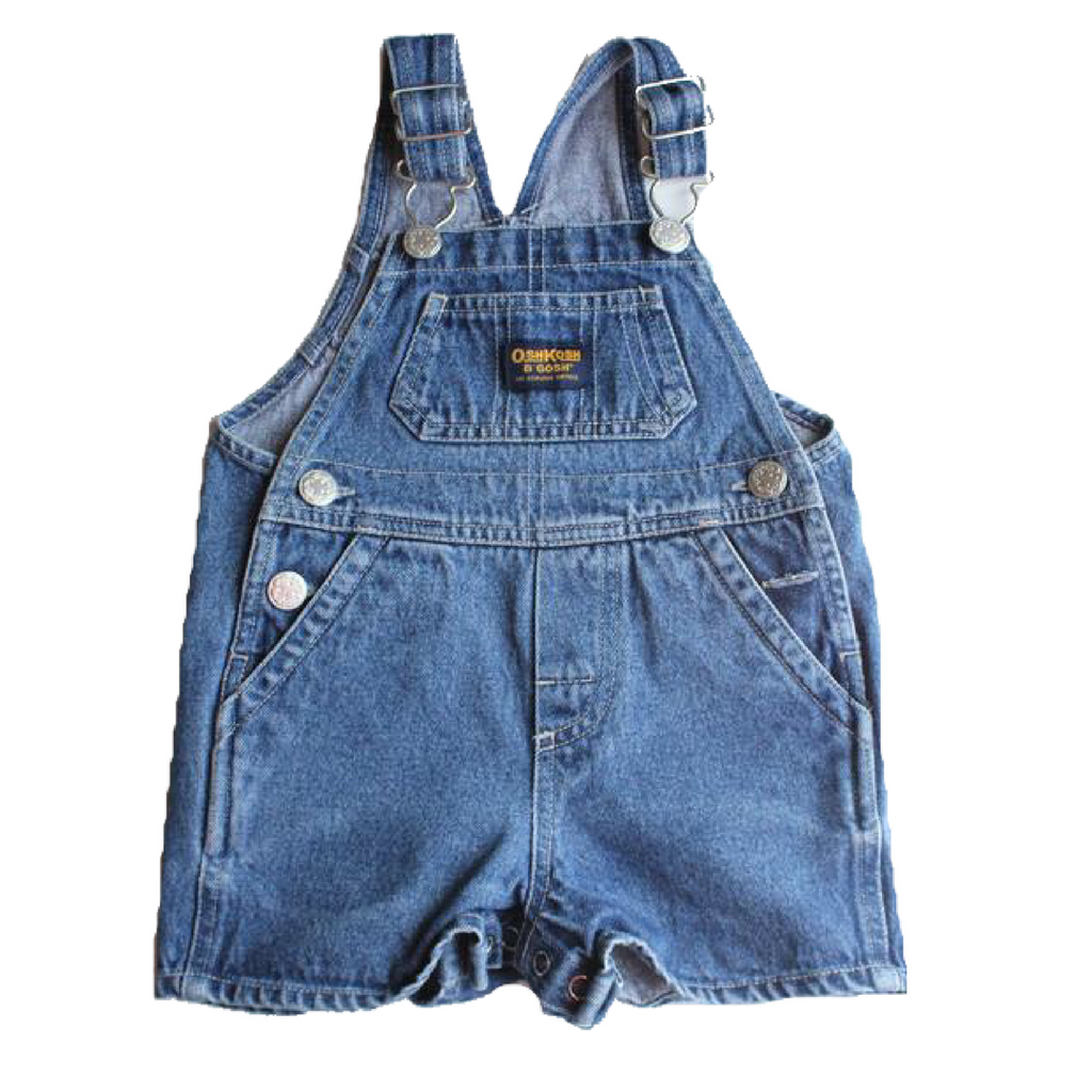 Osh Kosh Infant Denim Shortalls, Size 6-9 Months - May Bug Treasures