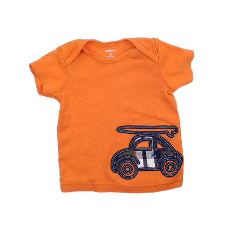 Carters Infant Orange T-Shirt, Size 3 Months - May Bug Treasures