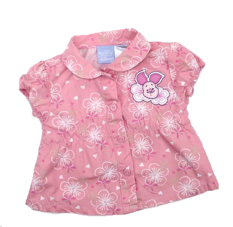 Disney Infant Girls Blouse with Piglet, Size 3 Months - May Bug Treasures