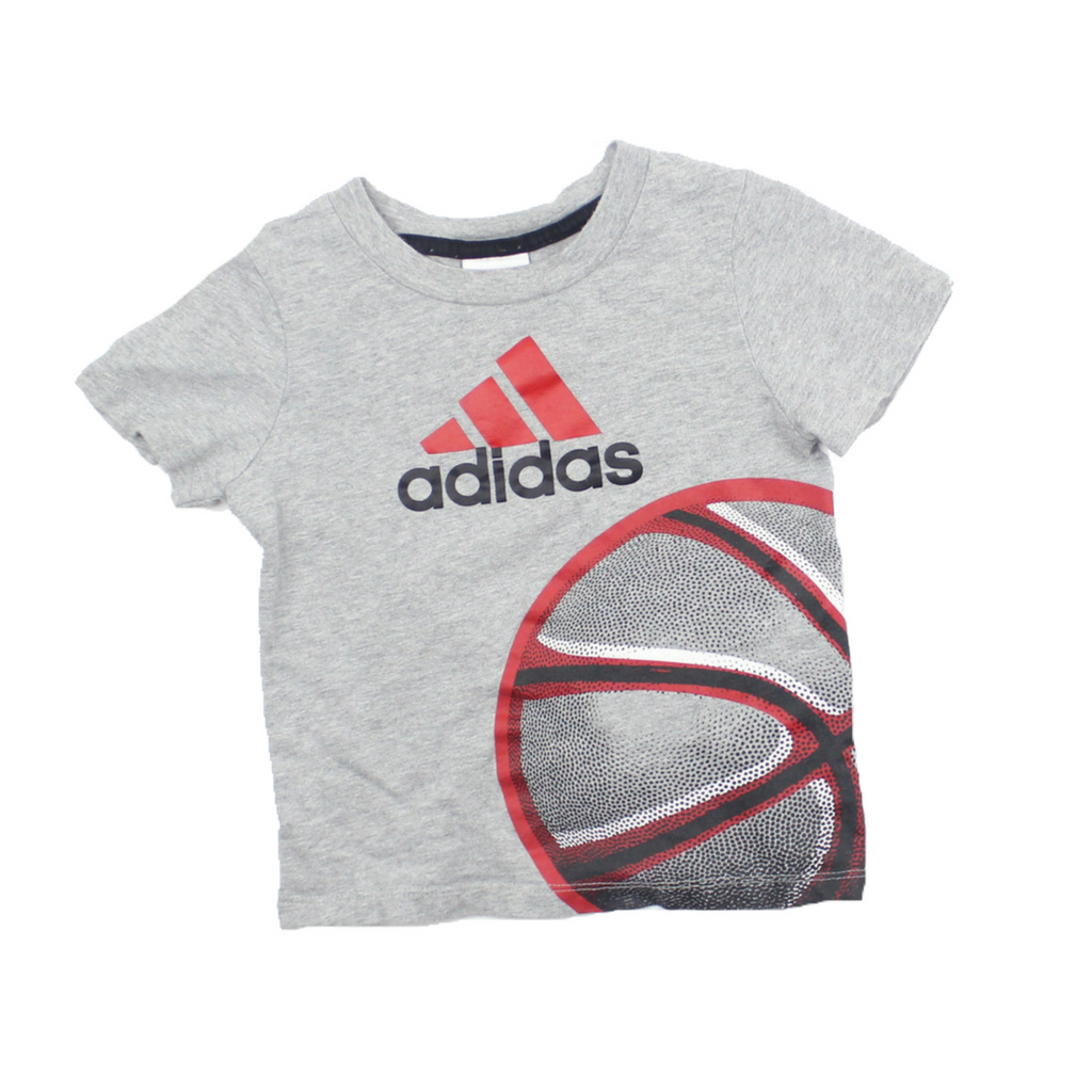 Adidas Grey Basketball T-Shirt, Size 2T - May Bug Treasures