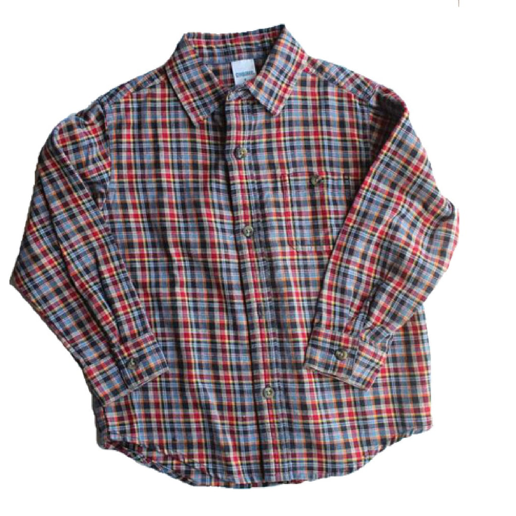 Gymboree Long Sleeve Flannel Shirt, Size 4 - May Bug Treasures