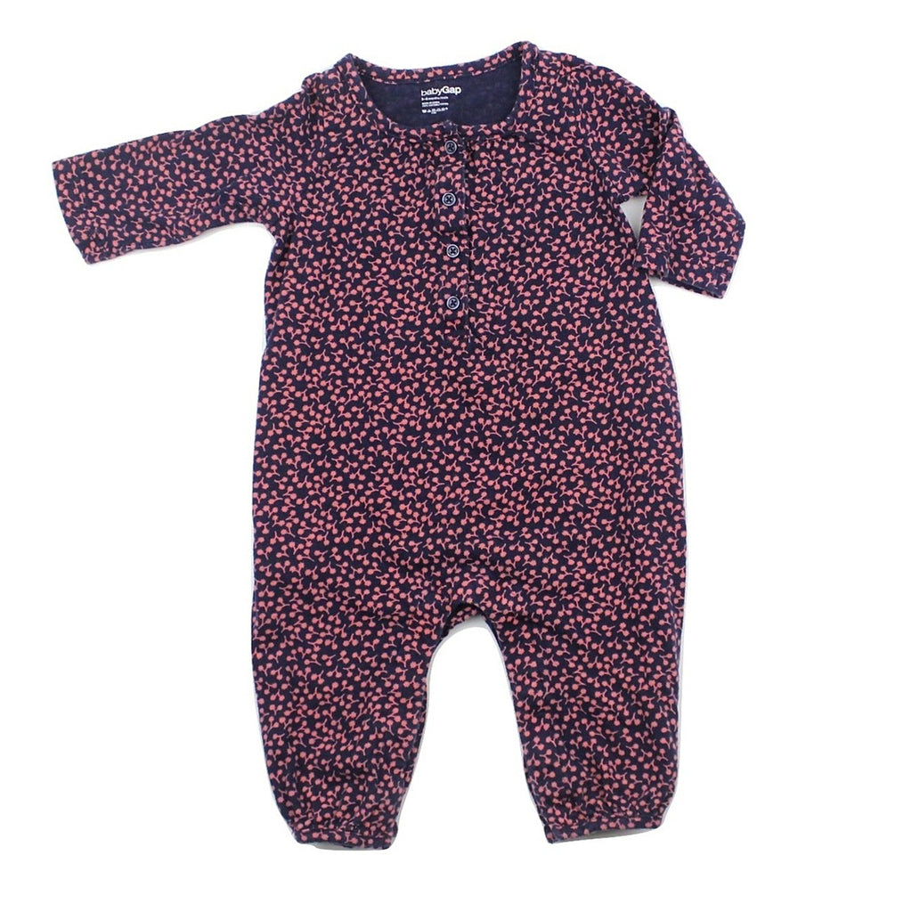 Baby Gap Infant Girls One-Piece Long Sleeve Romper, Size 3-6 Months - May Bug Treasures