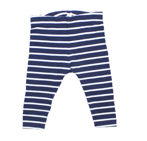 Infant Navy and White Stripe Leggings, Size 4-6 Months - May Bug Treasures