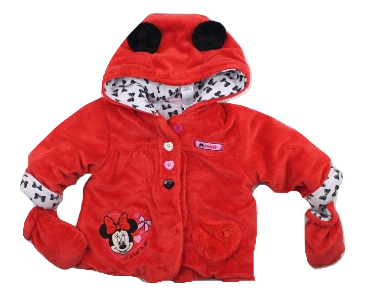 Disney Girls Minnie Mouse Coat with Mittens, Size 6-12 Months - May Bug Treasures