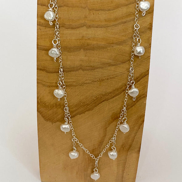 Raindrop Pearl Necklace - Love Beach Beads