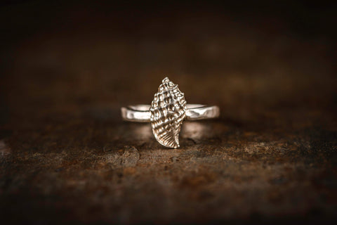 Silver Seashell Ring - Love Beach Beads