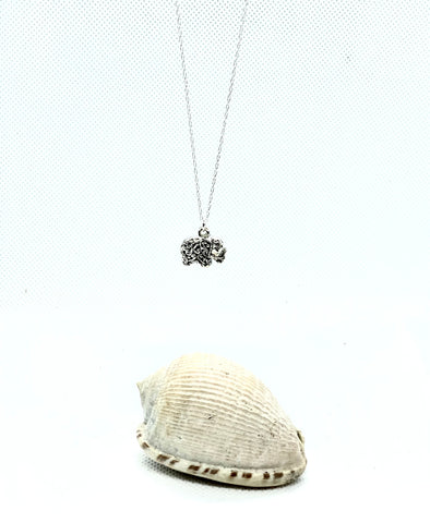 Lucky Silver Elephant Necklace - Love Beach Beads