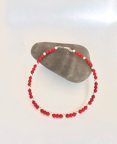 Coral Anklet - Love Beach Beads