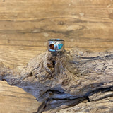 Turquoise and Citrine Silver Ring - Love Beach Beads