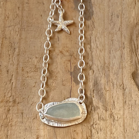 Textured Sea Glass Bracelet