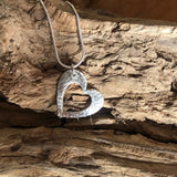 Fine Silver Heart Necklace - Love Beach Beads