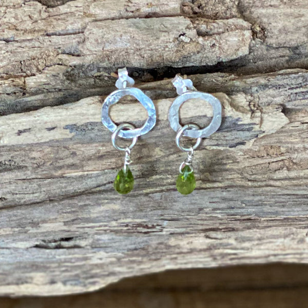 Peridot Sterling Silver Earrings - Love Beach Beads