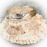 Silver Leaf Stacking Ring - Love Beach Beads