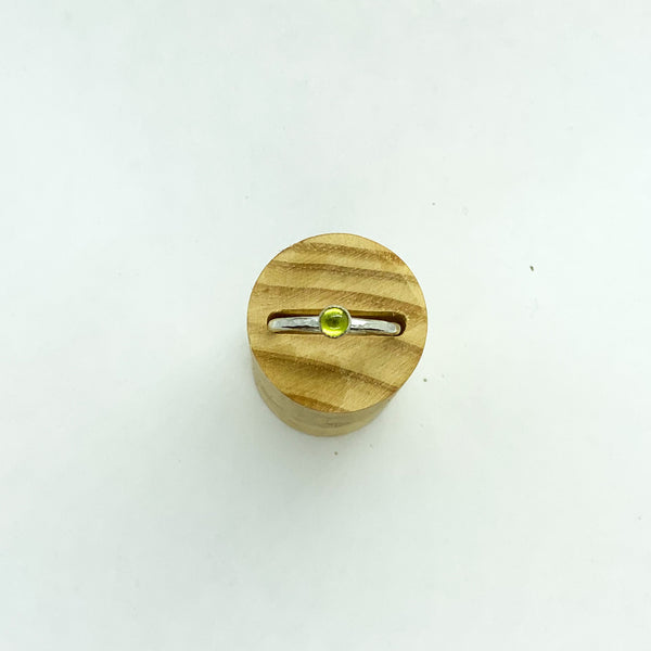 Peridot Sterling Silver Ring - Love Beach Beads