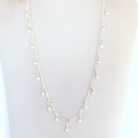 Vintage Pearl necklace, bridal jewellery, Minimalist Pearl necklace