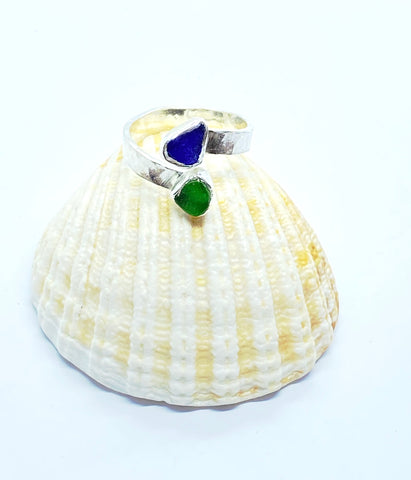 Sea Glass Wrap Ring - Love Beach Beads