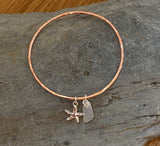 Copper Charm Bangle - Love Beach Beads