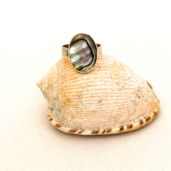 Abalone Soothing Shell Ring - Love Beach Beads
