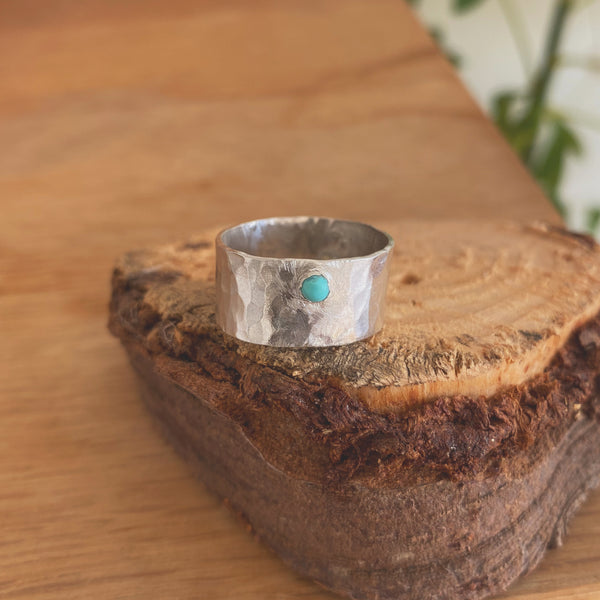Sterling Silver Ring With Turquoise - Love Beach Beads