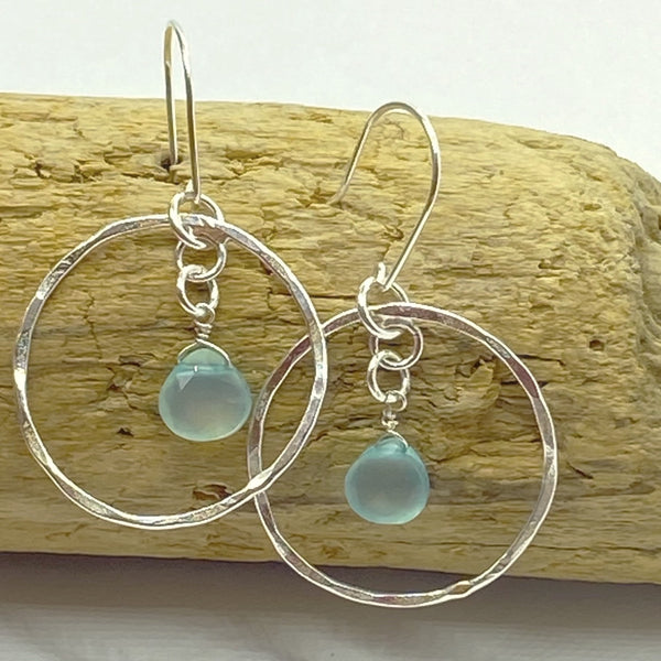 Pretty Silver Hoops - Love Beach Beads