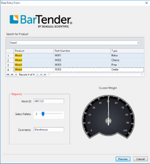 Weighing Scales Barcode Label Printing Software | BarTender