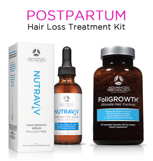 Postpartum Hair Loss Treatment Kit - Safe for breastfeeding - packaging presentation
