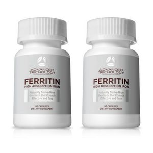 Two Bottles of Glandular Ferritin 5mg - High Absorption - 60 count