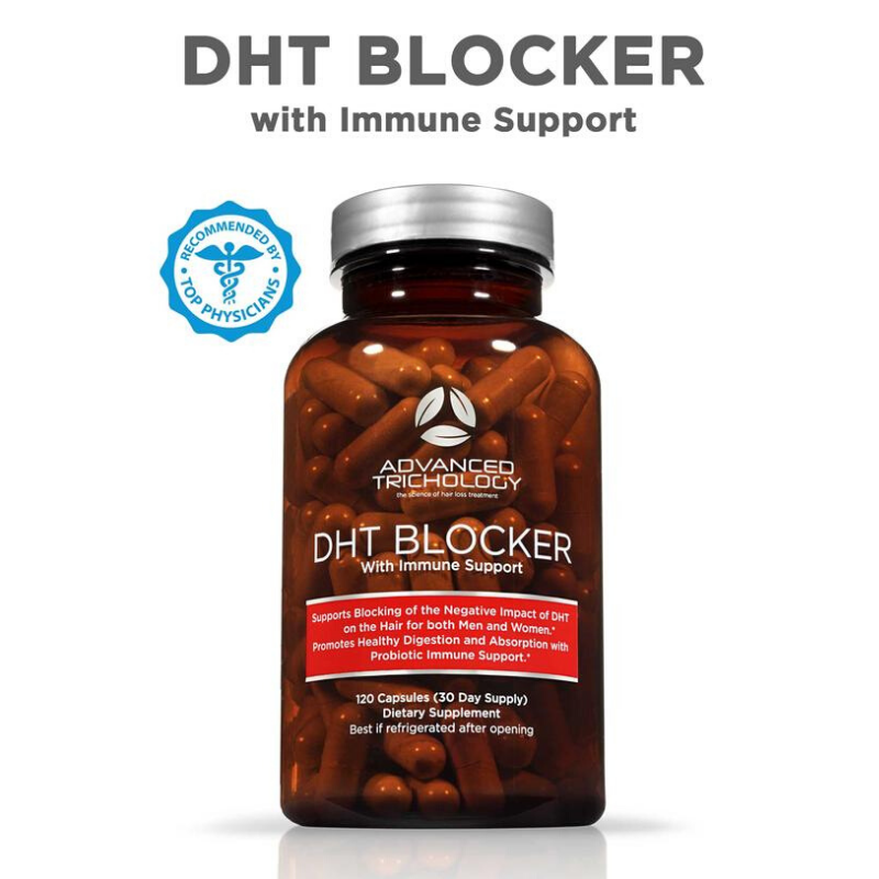DHT Blocker Vitamin with Immune Support, Saw Palmetto, and Green Tea