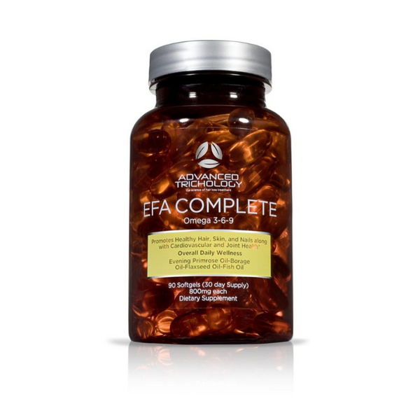 EFA COMPLETE Nutraceutical (Omega 3-6-9 for Optimal Hair Growth)
