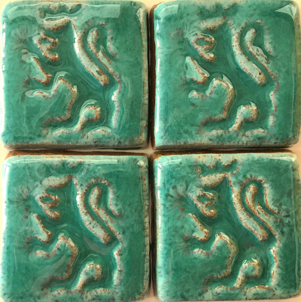 "Crown Lion<br/>Art Tile<br/>2.25"" x 2.25"" (4 tiles)"