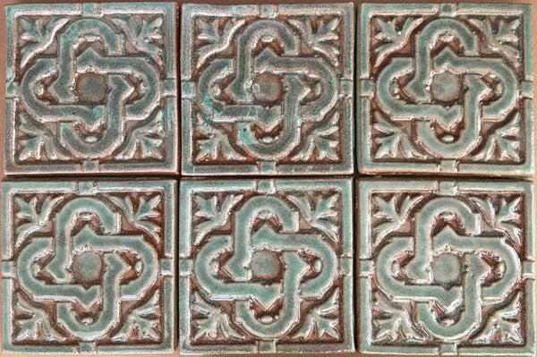 "Celtic Knot<br/>Art Tile<br/>4"" x 4"", 6 tiles"