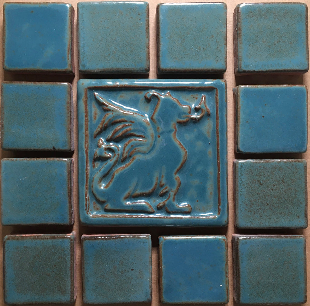 "Dragon<br/>Vignette<br/>8"" x 8"""