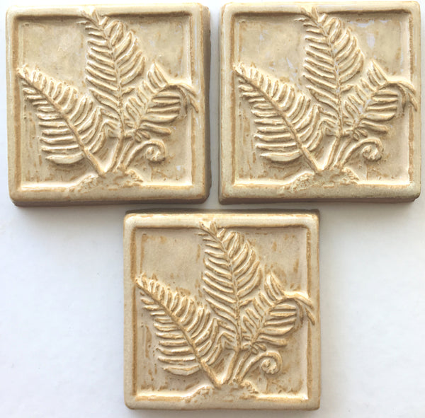 "Ferns<br/>Art Tile<br/>4"" x 4"" (3 tiles)"
