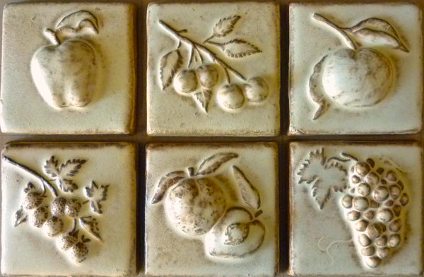 "Fruit Tiles<br/>Art Tile<br/>4"" x 4"" (6 tiles)"