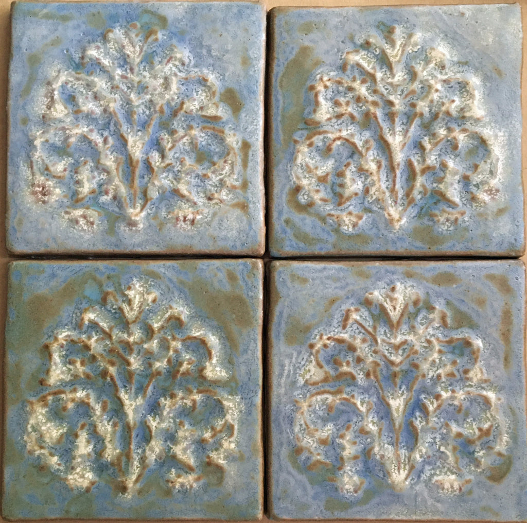 "Tree of Life, 4 tiles<br/>Vintage<br/>6"" x 6"" each"